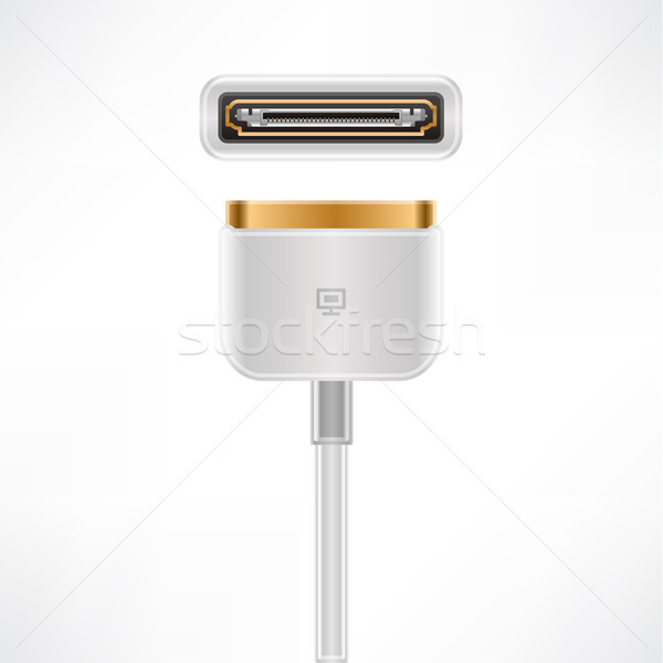 Stock photo: White Multimedia Dock Connector