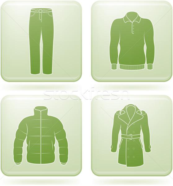 Olivine Square 2D Icons Set: Man's Clothing Stock photo © Vectorminator