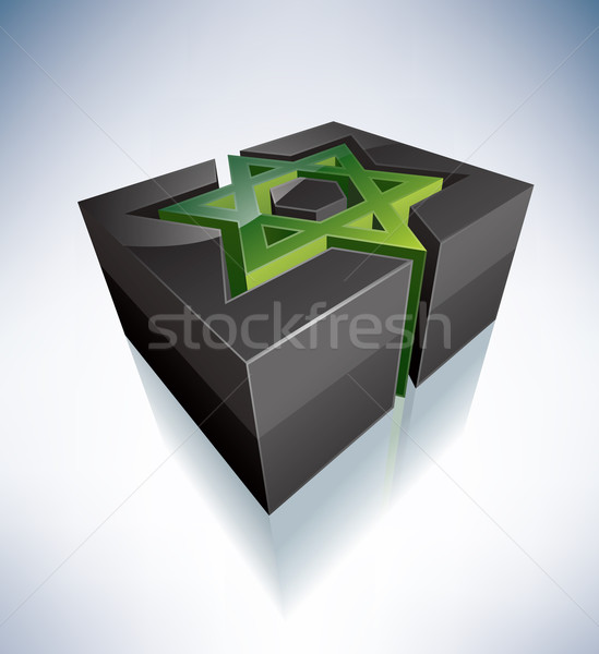 3D Religion: Star of David Stock photo © Vectorminator