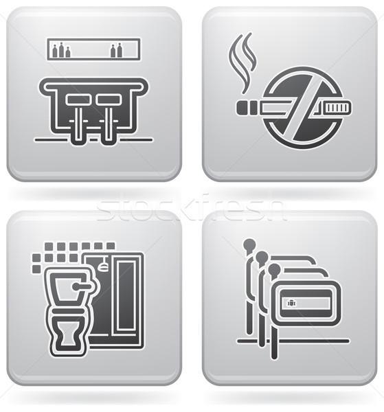 Hotel ikonok különböző bár dohányozni tilos szobák Stock fotó © Vectorminator