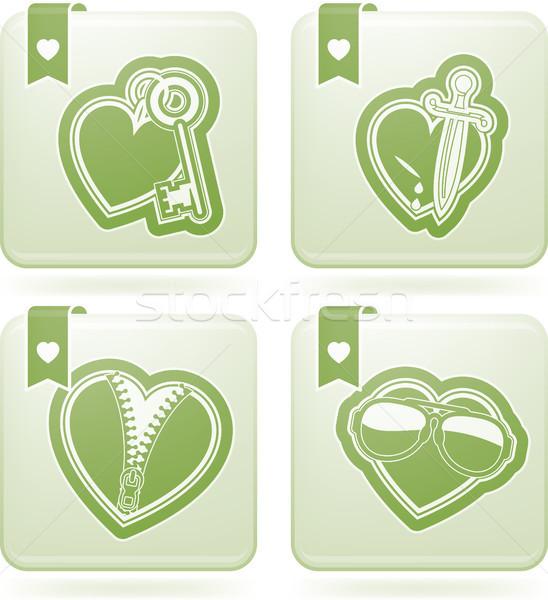 Valentijnsdag harten Valentijn tijd iconen verschillend Stockfoto © Vectorminator