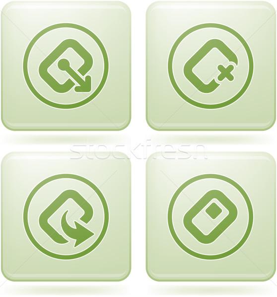 Olivine Square 2D Icons Set: Computer Stuff Stock photo © Vectorminator