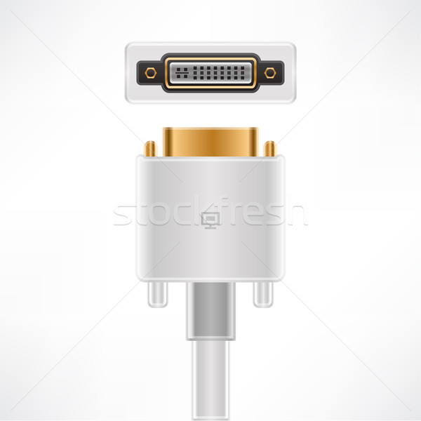 DVI-I  Cable Stock photo © Vectorminator