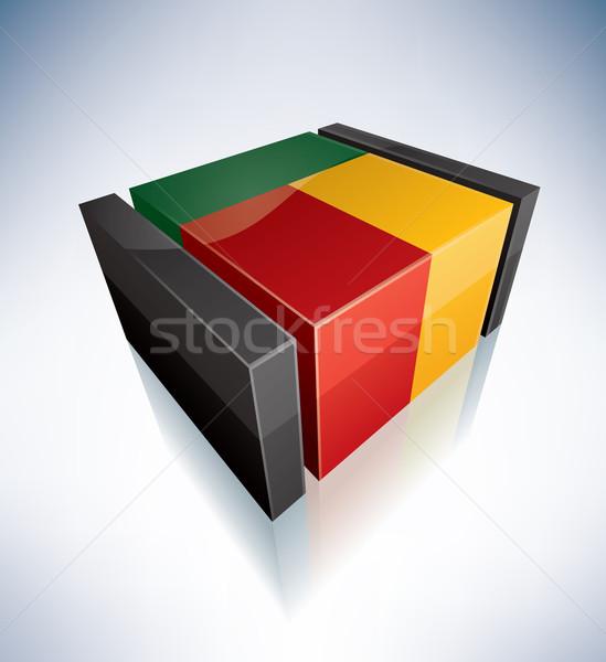 3D bandiera repubblica Benin africa bandiere Foto d'archivio © Vectorminator