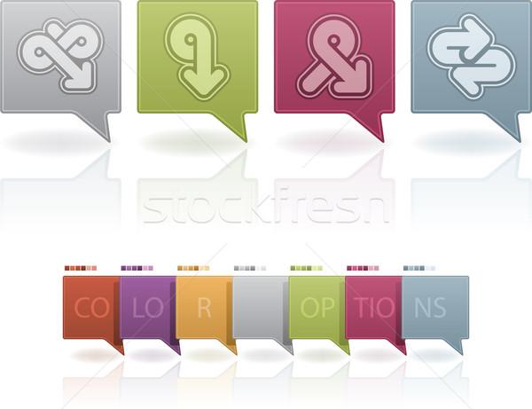Absztrakt nyilak vám ikon szett illusztrál különböző Stock fotó © Vectorminator