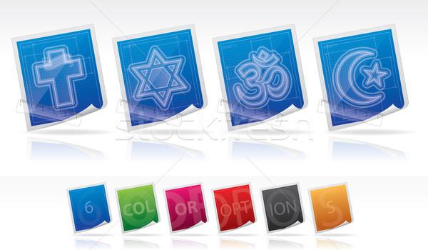 Din burada doğru hristiyanlık yahudilik hinduizm Stok fotoğraf © Vectorminator