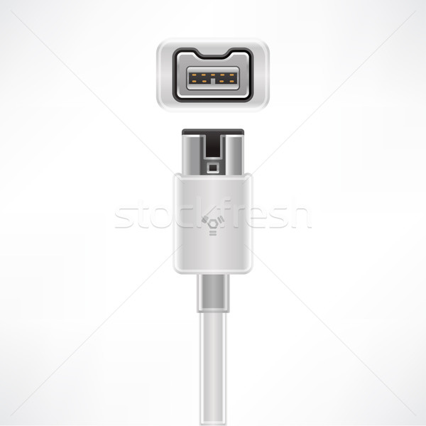 Stock photo: Firewire Cable