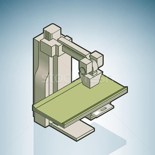 магнитный больницу аппаратных изометрический 3D Сток-фото © Vectorminator