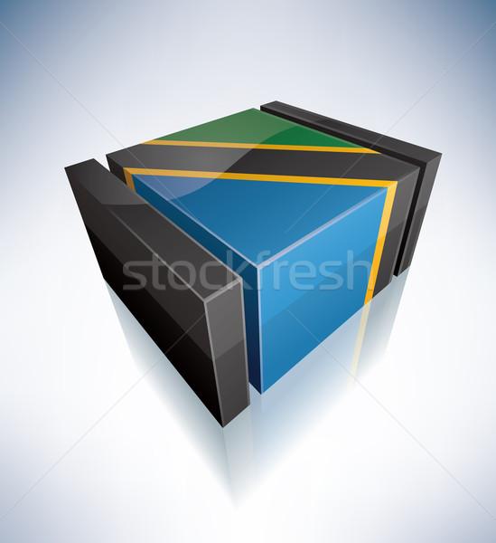 3D флаг Танзания Африка республика флагами Сток-фото © Vectorminator