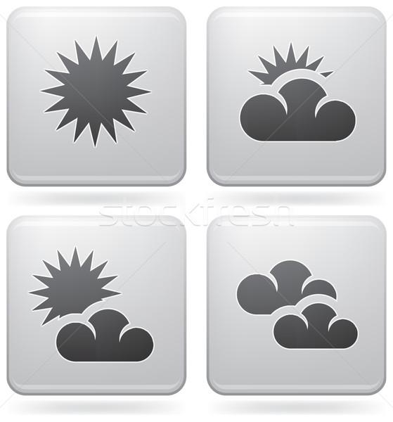 Időjárás szett ikonok illusztrál különböző platina Stock fotó © Vectorminator