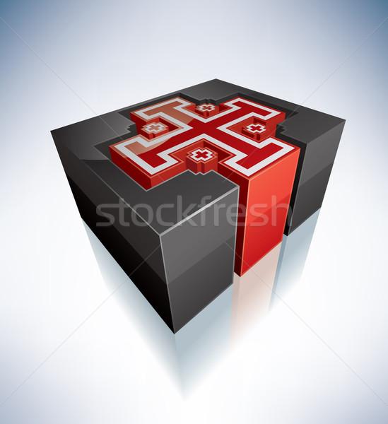 3D religião Jerusalém atravessar símbolos símbolo Foto stock © Vectorminator
