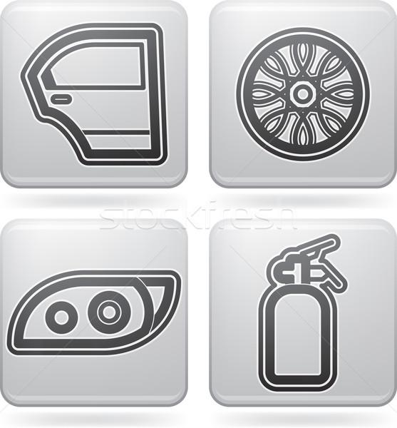 Autó alkatrészek kellékek helyes ajtó peremszegély Stock fotó © Vectorminator