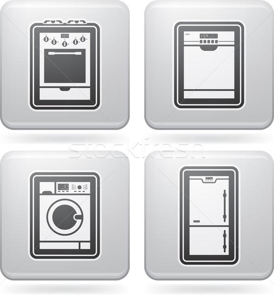 Huis objecten tools top bodem Stockfoto © Vectorminator