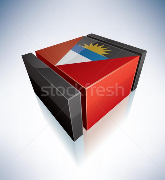 Сток-фото: 3D · флаг · Карибы · флагами · прибыль · на · акцию