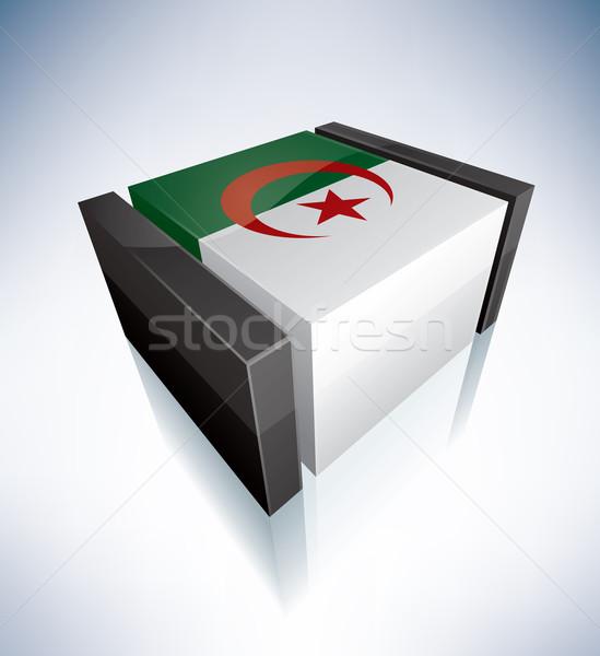 3D pavillon Algérie Afrique peuples démocratique Photo stock © Vectorminator