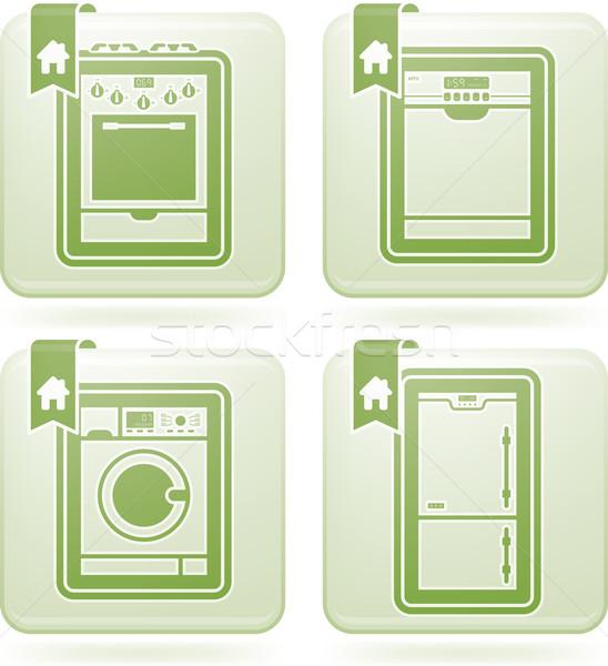 Huis alledaags vector illustrator versie Stockfoto © Vectorminator