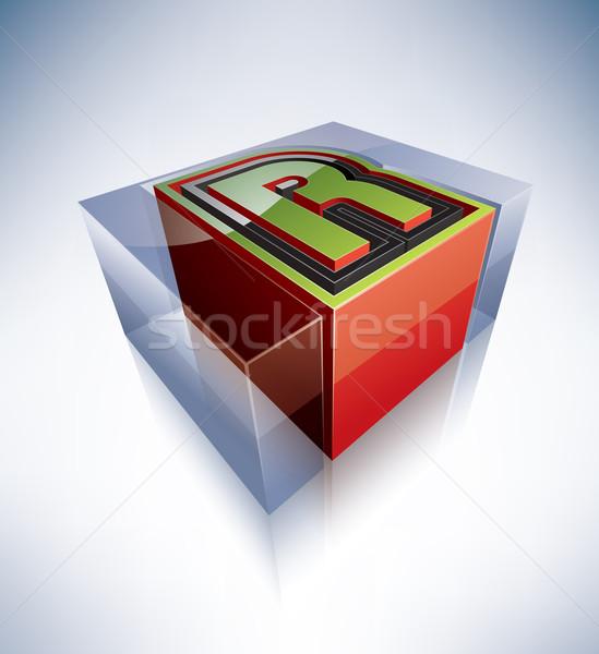 3D alphabet: Capital letter R Stock photo © Vectorminator