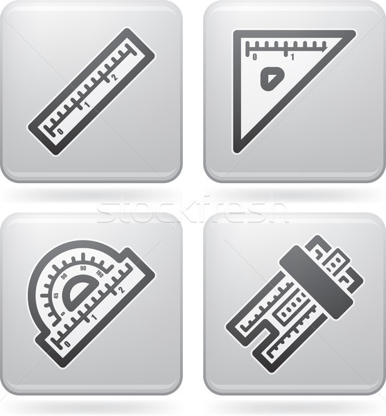 служба поставлять объекты правителя квадратный транспортир Сток-фото © Vectorminator