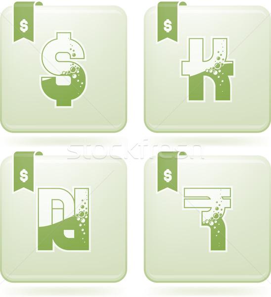 Dinheiro símbolos moedas carta aqui direito Foto stock © Vectorminator