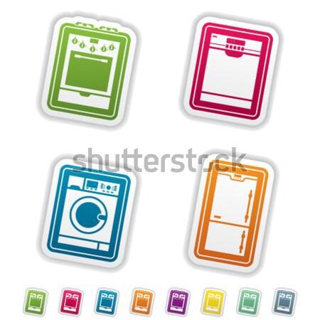 Huis alledaags 22 Blauw home Stockfoto © Vectorminator