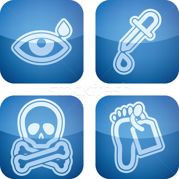Gezondheidszorg iconen oog drop Stockfoto © Vectorminator