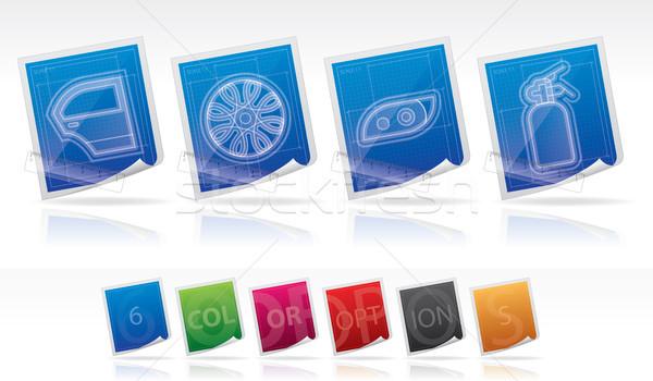 Araba planı stil doğru Stok fotoğraf © Vectorminator
