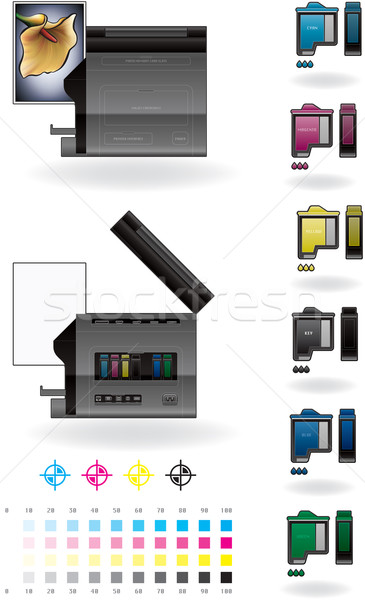 Office InkJet Printer/Photocopier Stock photo © Vectorminator