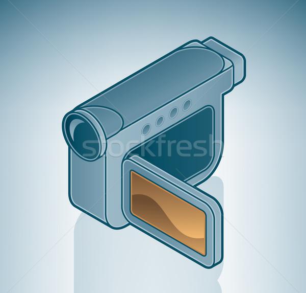 Fotocamera digitale isometrica 3D computer hardware Foto d'archivio © Vectorminator