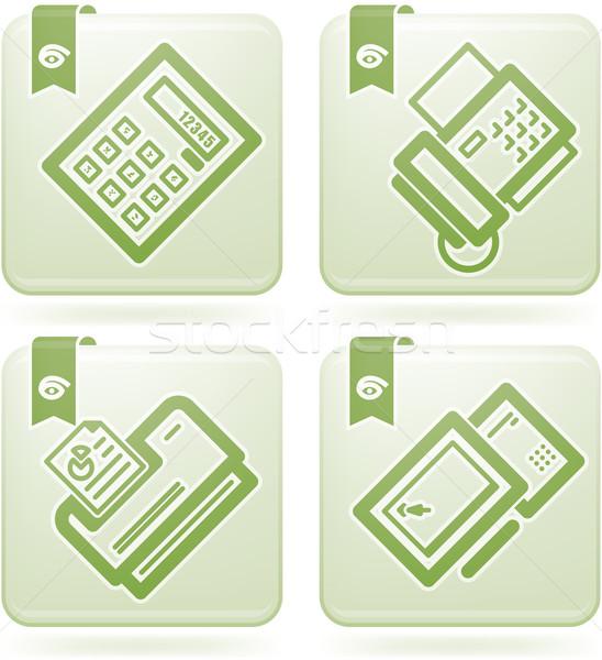 служба поставлять компьютер контроля зеленый Сток-фото © Vectorminator
