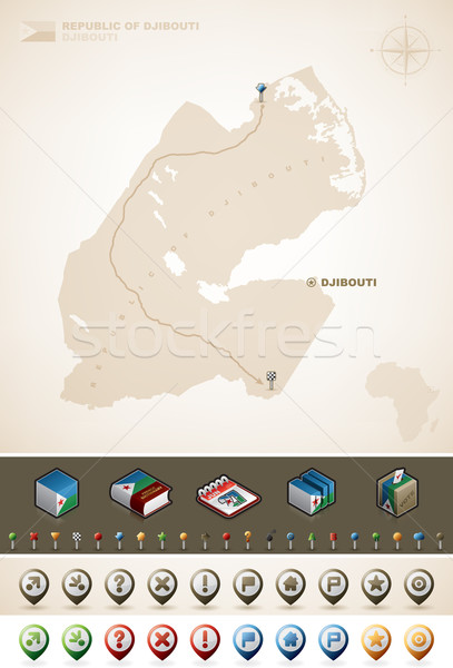 Djibouti Stock photo © Vectorminator