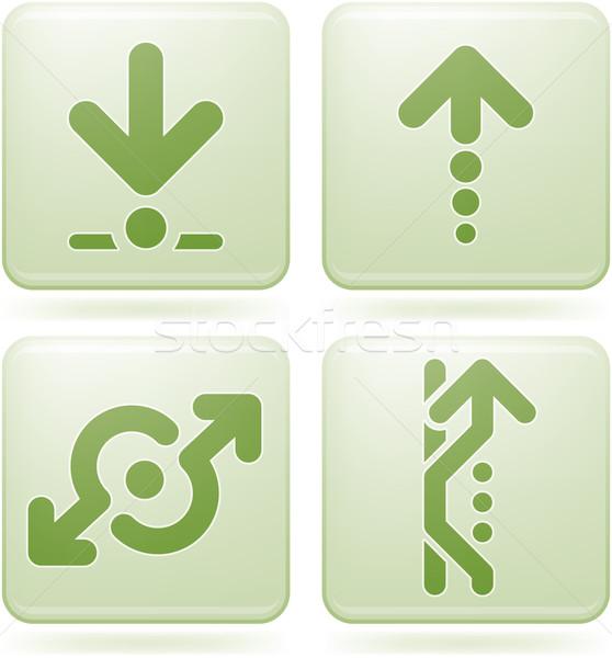 Сток-фото: кобальт · квадратный · Стрелки · дорожный · знак · вектора