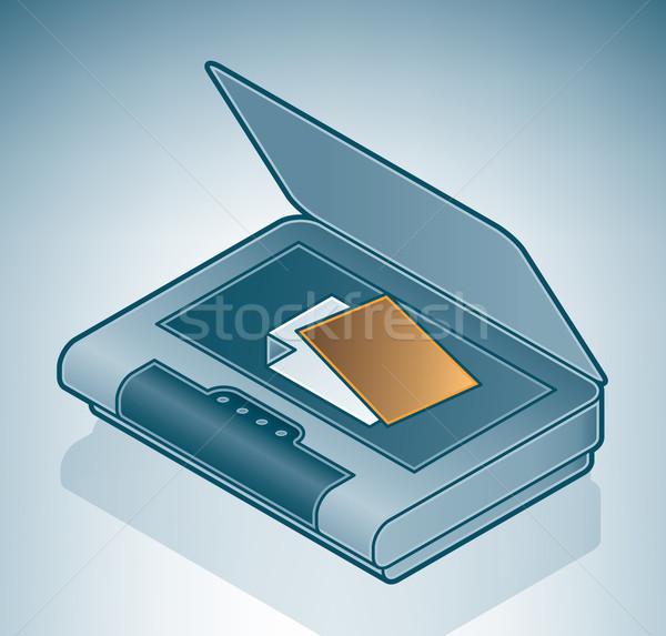 Foto scanner isometrica 3D computer hardware Foto d'archivio © Vectorminator
