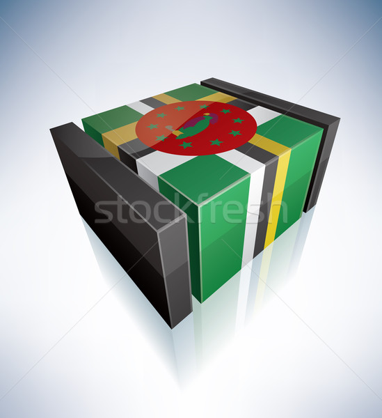 3D flag of Dominica Stock photo © Vectorminator