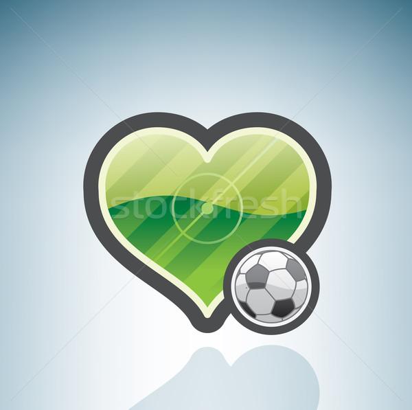 Amore giocare calcio calcio Foto d'archivio © Vectorminator