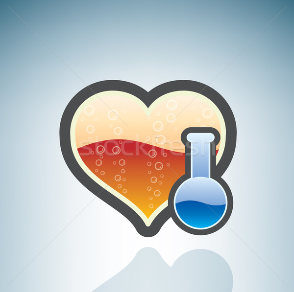 Love Chemistry Stock photo © Vectorminator