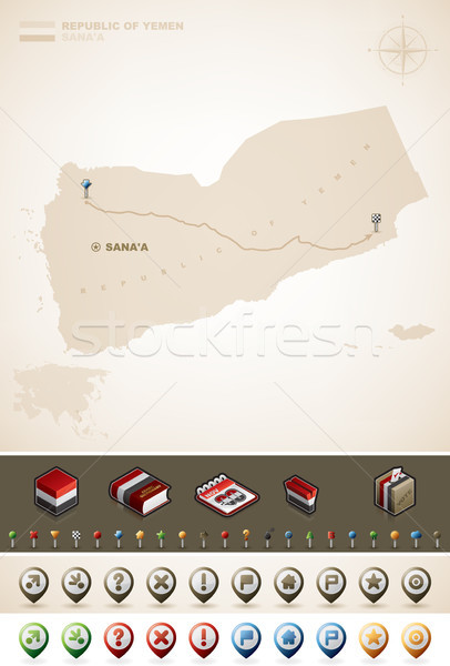 Republic of Yemen Stock photo © Vectorminator