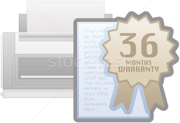 принтер гарантия икона компьютер аппаратных Сток-фото © Vectorminator