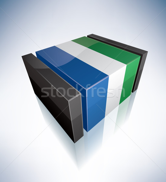 3D flag of Sierra Leone Stock photo © Vectorminator