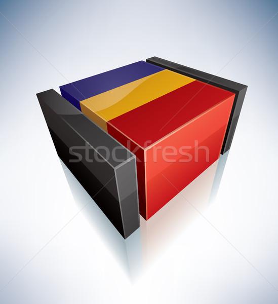 3D flag of Romania Stock photo © Vectorminator