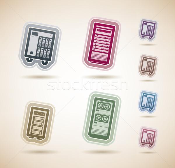 Számítógép alkatrészek kellékek itt helyes felső Stock fotó © Vectorminator