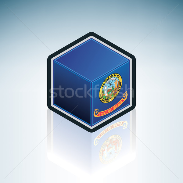 Idaho vlag Verenigde Staten amerika 3D isometrische Stockfoto © Vectorminator