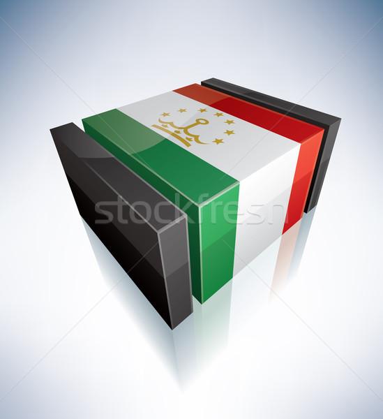 3D flag of Tajikistan Stock photo © Vectorminator