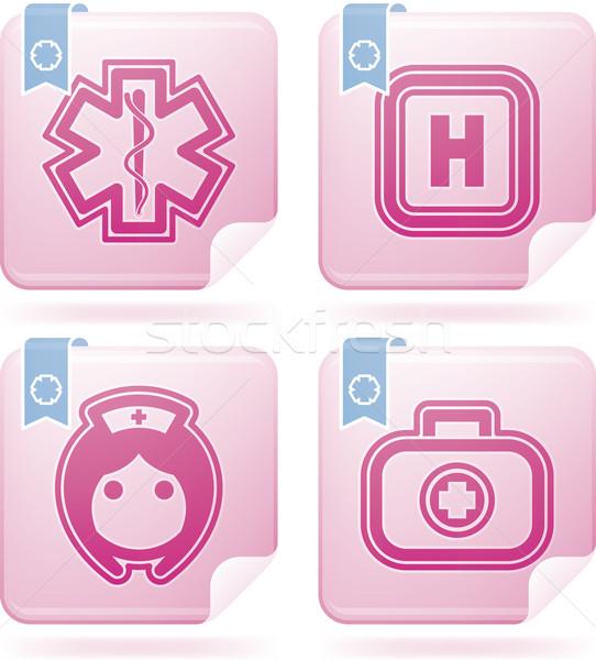 здравоохранения иконки синий право больницу Сток-фото © Vectorminator