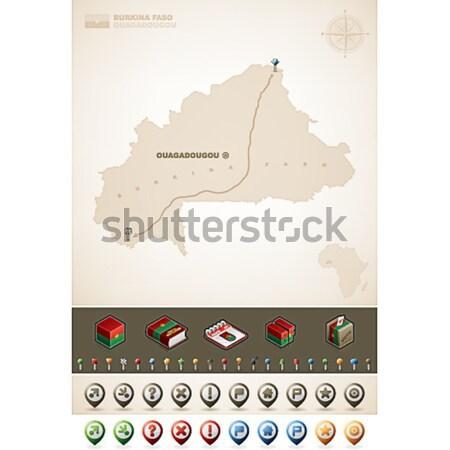 Republika Irak asia mapy dodatkowo Zdjęcia stock © Vectorminator