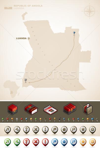 République Angola Afrique cartes supplémentaire Photo stock © Vectorminator