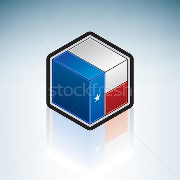 テキサス州 フラグ 米国 アメリカ 3D アイソメトリック ストックフォト © Vectorminator