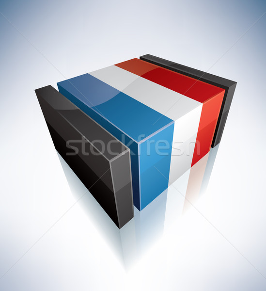 3D flag of Luxembourg Stock photo © Vectorminator