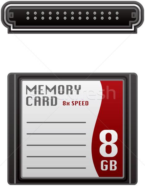 Bellek kart kompakt flaş bilgisayar donanım Stok fotoğraf © Vectorminator