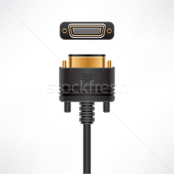 кабеля Plug гнездо компьютер аппаратных Сток-фото © Vectorminator