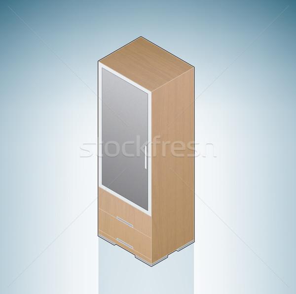 Furniture: Small Bedroom Cupboard Stock photo © Vectorminator